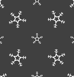 Snow icon sign Seamless pattern on a gray vector