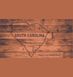 South carolina map brand vector