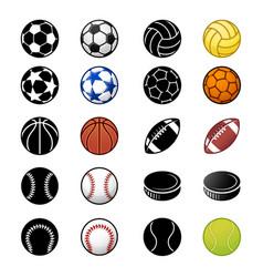 sport balls icon set 2 vector image