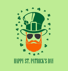 St patricks day holiday poster banner label vector