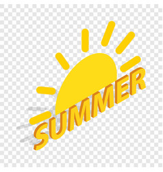 sun and summer isometric icon vector image