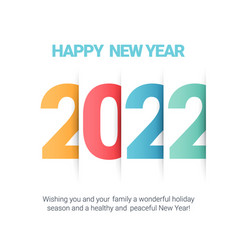 Text design 2022 happy new year card vector