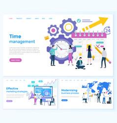 time management marketing or modernizing business vector image