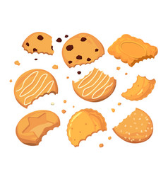 traces from stings on the cookies and different vector image