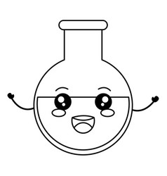 Tube test kawaii character vector