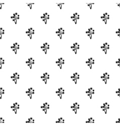 Two flowers pattern simple style vector image