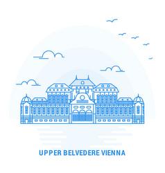 upper belvedere vienna blue landmark creative vector image