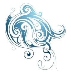 Water wave ornament vector