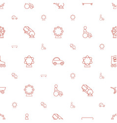 Wheel icons pattern seamless white background vector