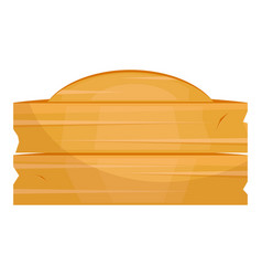 wooden plate icon object tray for table vector image
