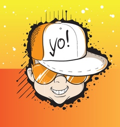 Yo dude vector image