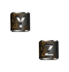 yz iron letters vector image