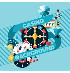 Casino Gambling Background vector image vector image