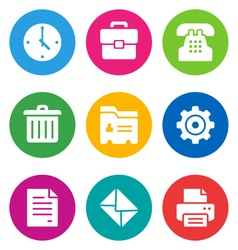 color office icons vector image vector image