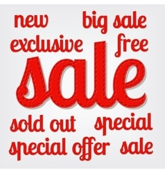 sale titles vector image