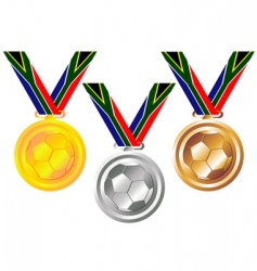 soccer medals vector image vector image