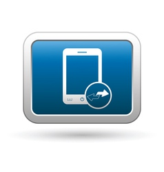 Phone with renew menu icon vector image vector image