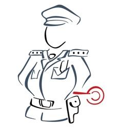Road patrol vector image