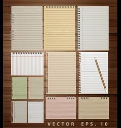 Vintage paper on wood vector image vector image