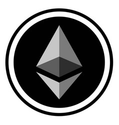 coin crypto currency ethereum vector image vector image