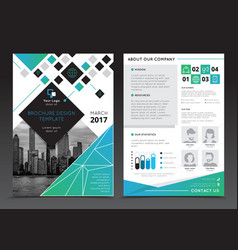 Company report brochure templates vector