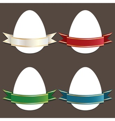 easter eggs vector image vector image