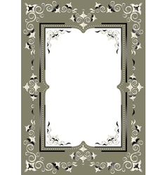 Frame with eastern decor vector image vector image