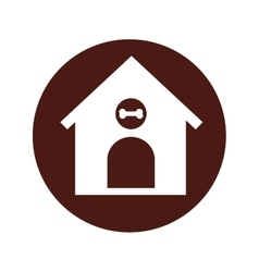 house mascot isolated icon vector image vector image