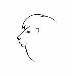 lion head lion icon in side view vector image