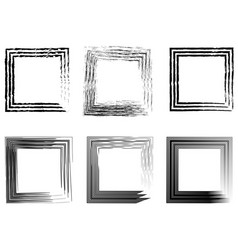 set of abstract photo frames vintage frame hand vector image vector image