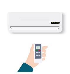 split system air conditionerrealistic conditioner vector image vector image