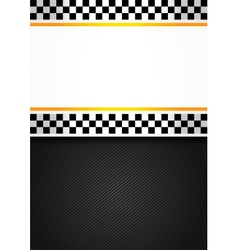 Taxi blank racing background vector image vector image