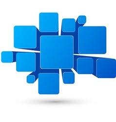 Bubble blue infographics design vector image vector image