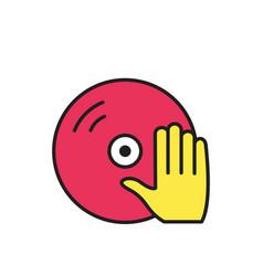 vinyl and dj hand icon symbol vector image
