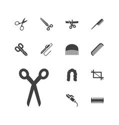 13 scissors icons vector