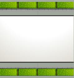 a note template garden theme vector image