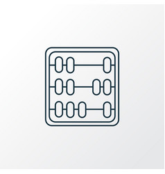 abak icon line symbol premium quality isolated vector image