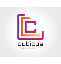 Abstract copyright logo template vector