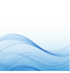 Abstract water wave surface with transparency vector