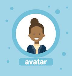African american woman avatar businesswoman vector