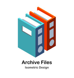 Archive files isometric vector