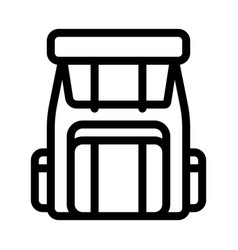backpack knapsack alpinism equipment icon vector image