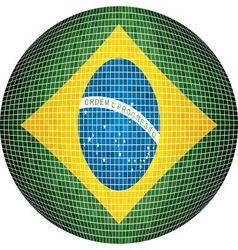 Ball with Brazil flag vector image