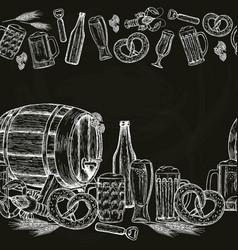 beer seamless horizontal border vector image
