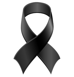 Black Ribbon symbol Day of Mourning vector