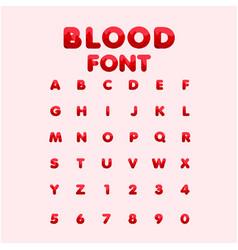 Blood font template design vector