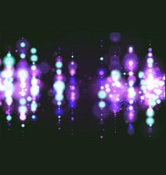 Blue bokeh sparkle glitter lights luxury glamor vector