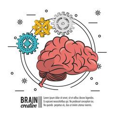 Brain creative poster icon ilustration vector