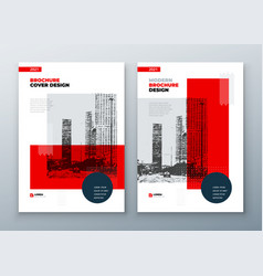 Brochure template layout design corporate vector