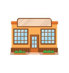 Cafe shop or restaurant facade front view of vector